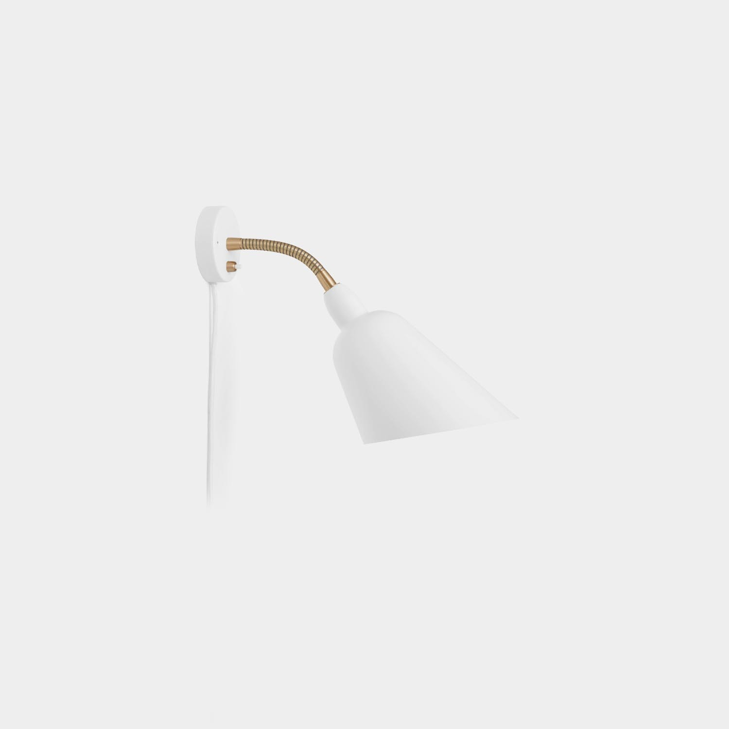 Bellevue Wall Lamp AJ9, White and Brass