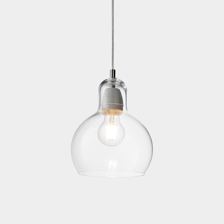 Mega Bulb Pendant, Clear Cord