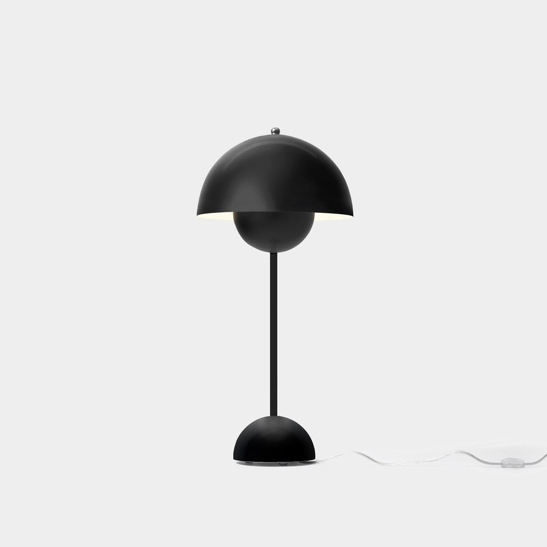 FlowerPot Table Lamp VP3, Matte Black