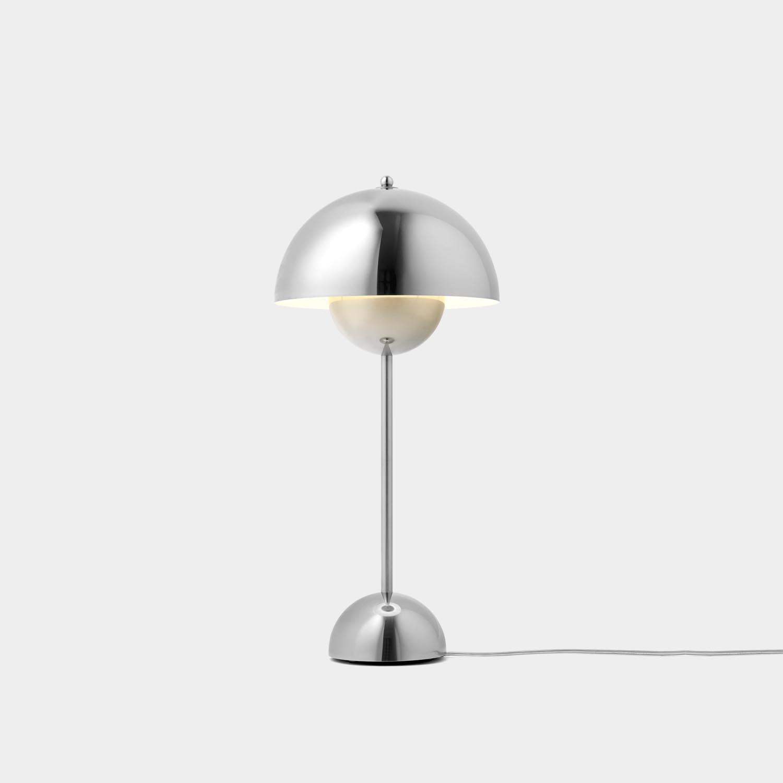 FlowerPot Table Lamp VP3, Stainless Steel