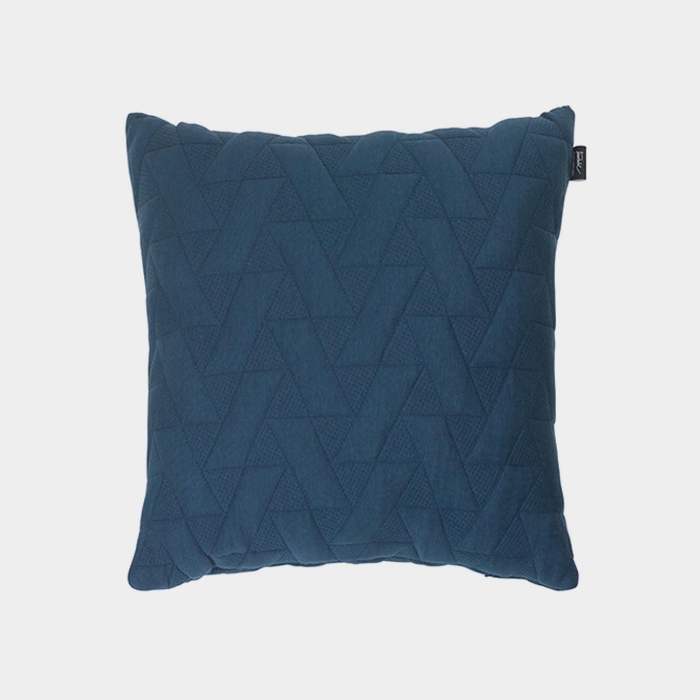 FJ Pattern Square Cushion, Blue