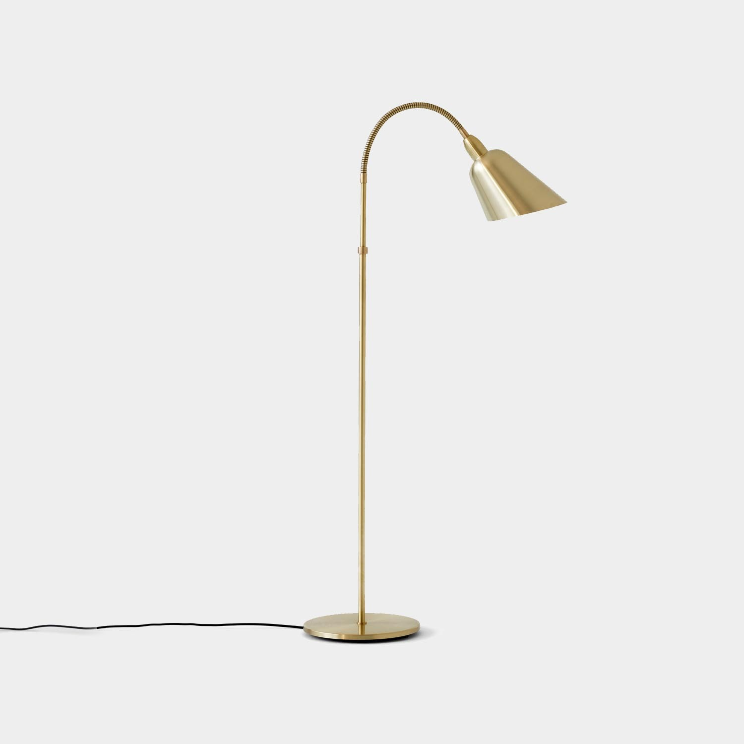 Bellevue Floor Lamp, Brass