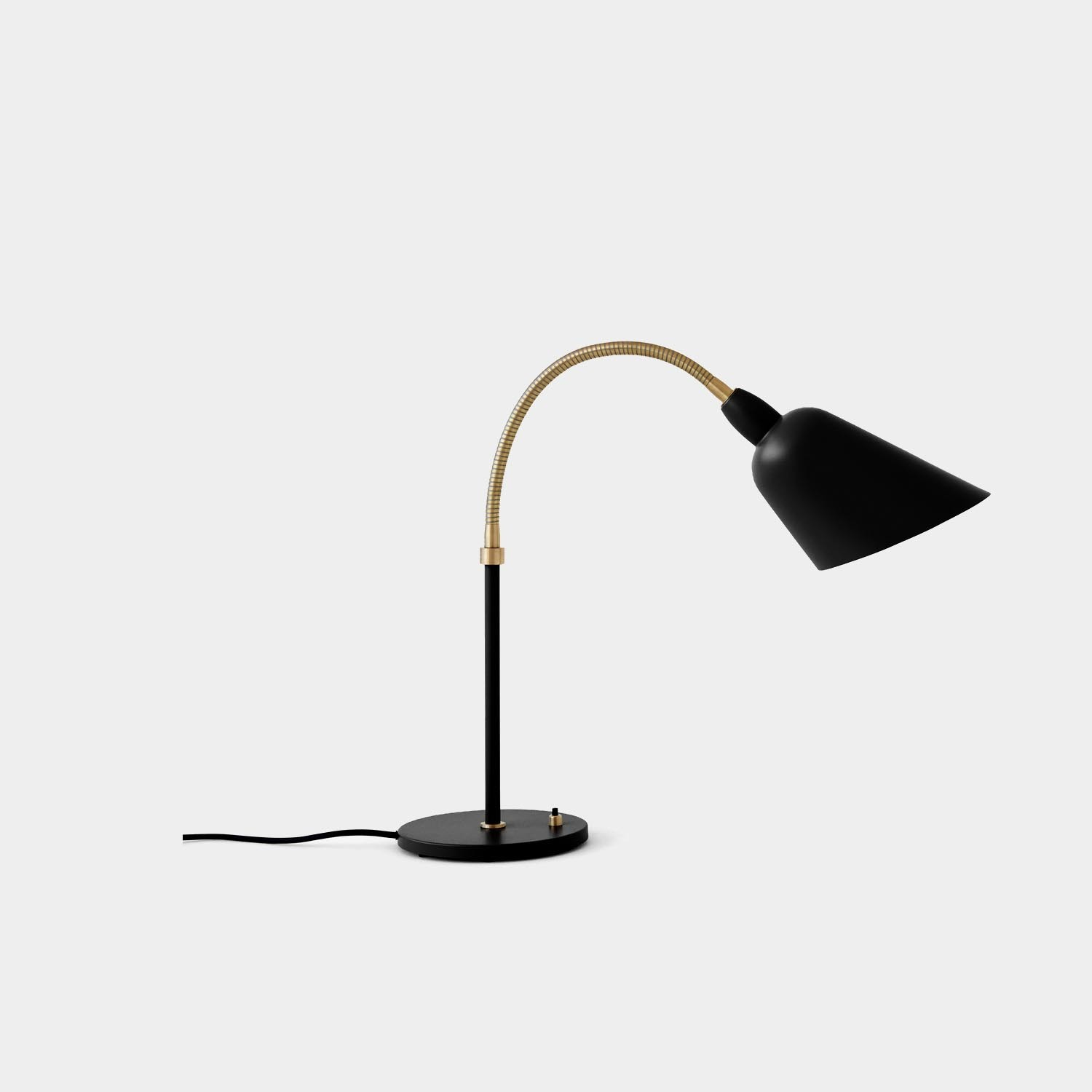 Bellevue Table Lamp, Black and Brass