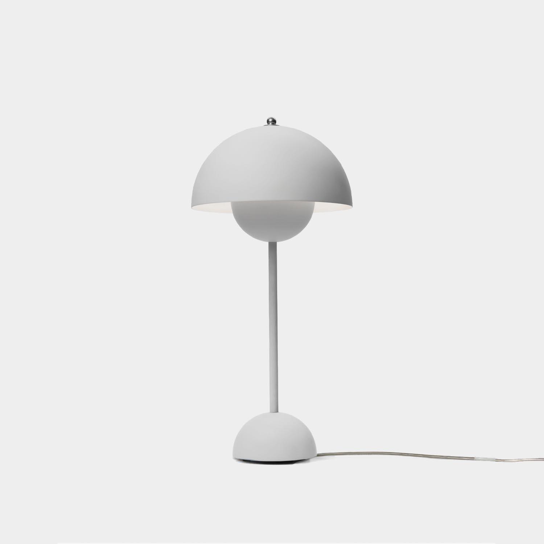 FlowerPot Table Lamp VP3, Matte Light Gray