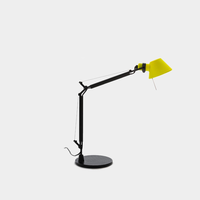 Table Lamp Tolomeo Micro, Black & Yellow