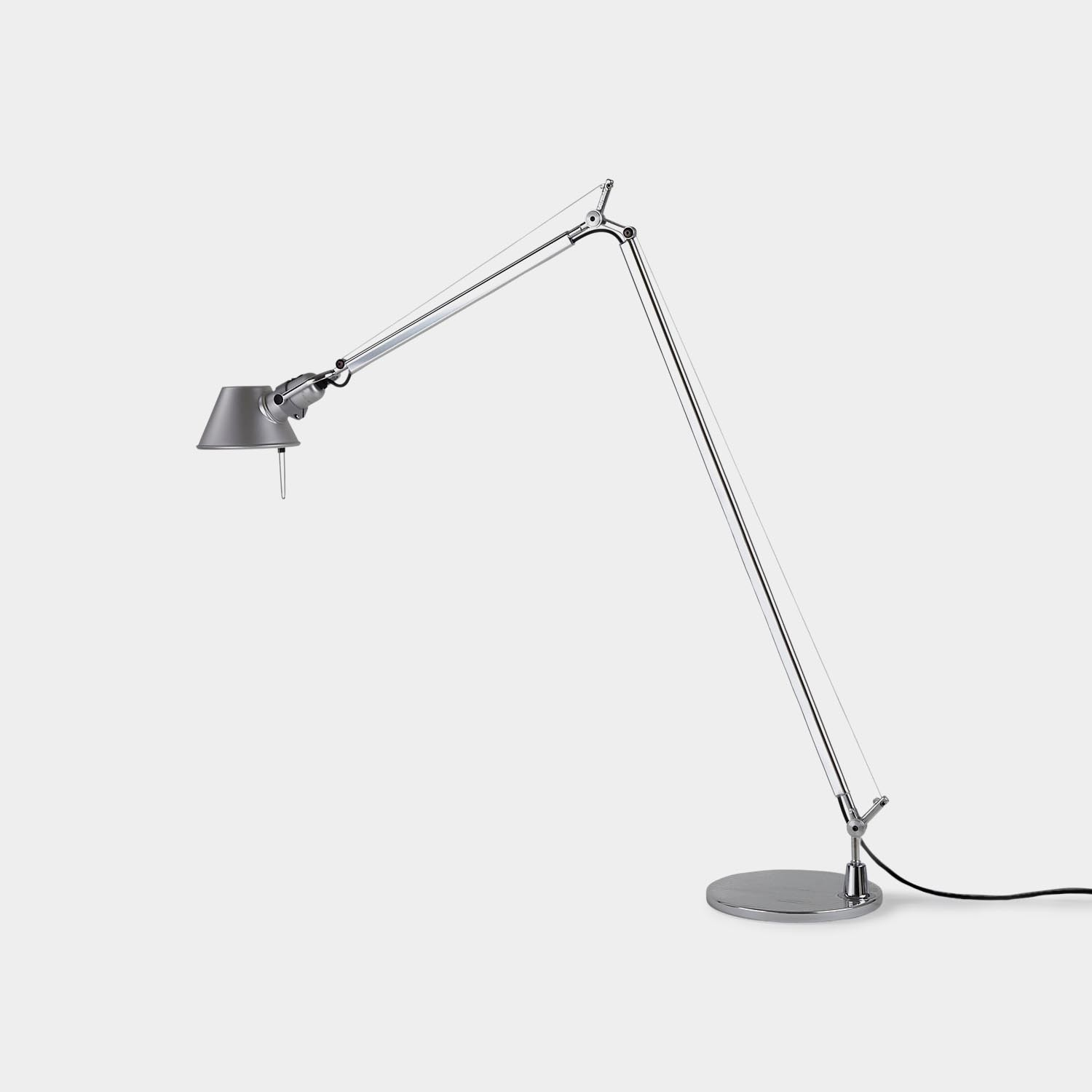 Floor Lamp Tolomeo Reading, Silver