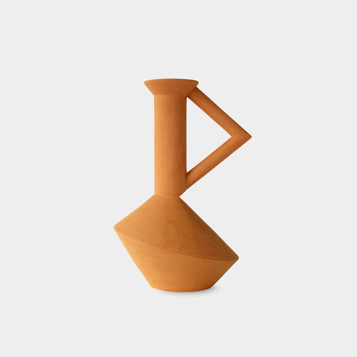 Zag Carafe, Terracotta, Medium