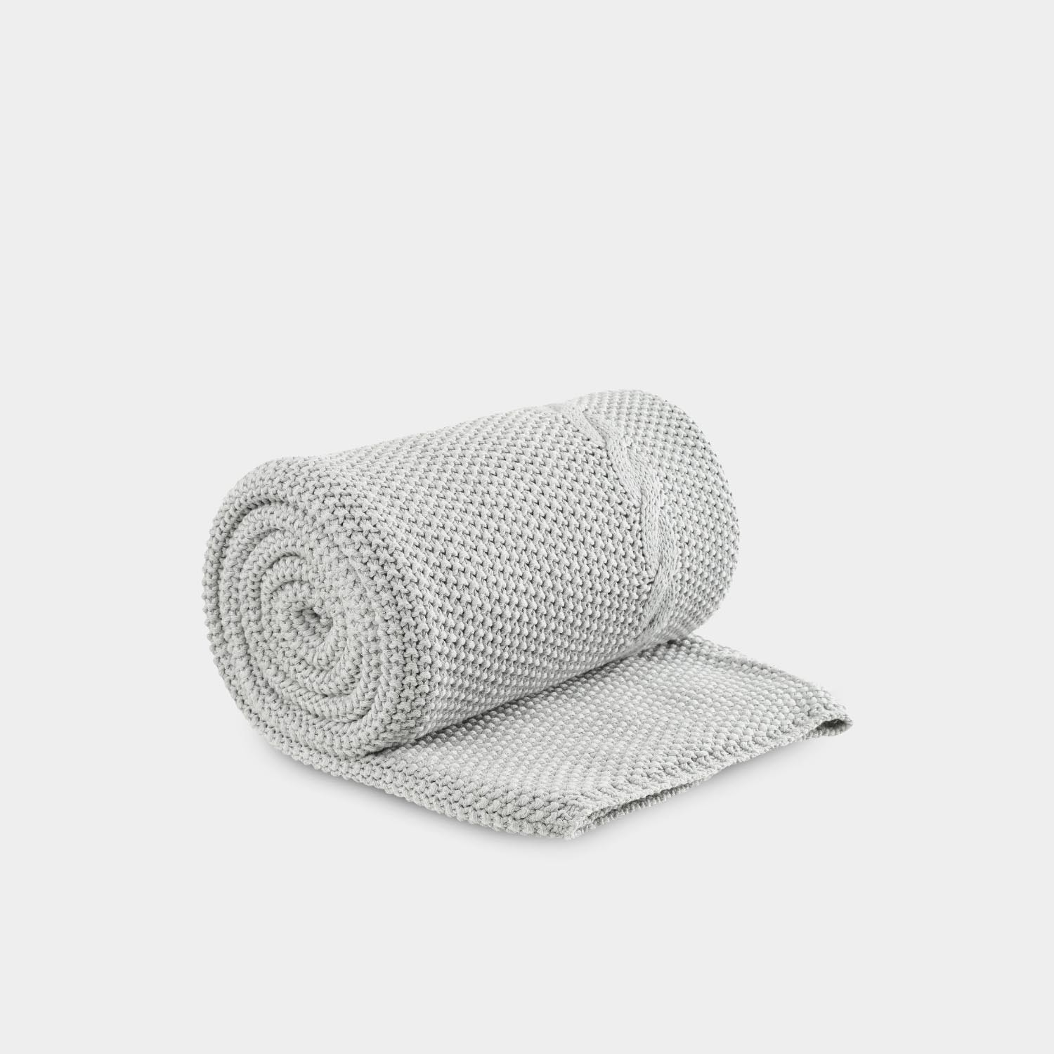 North Cable Throw, Light Gray