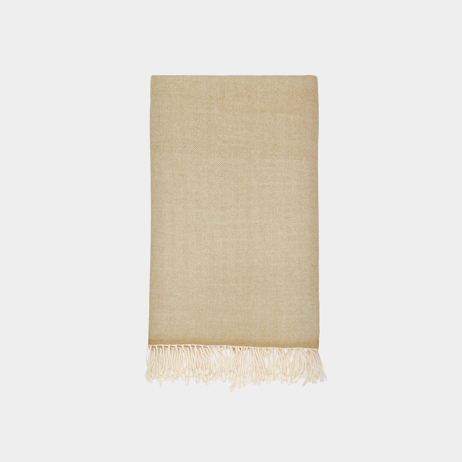 Herringbone Throw, Camel