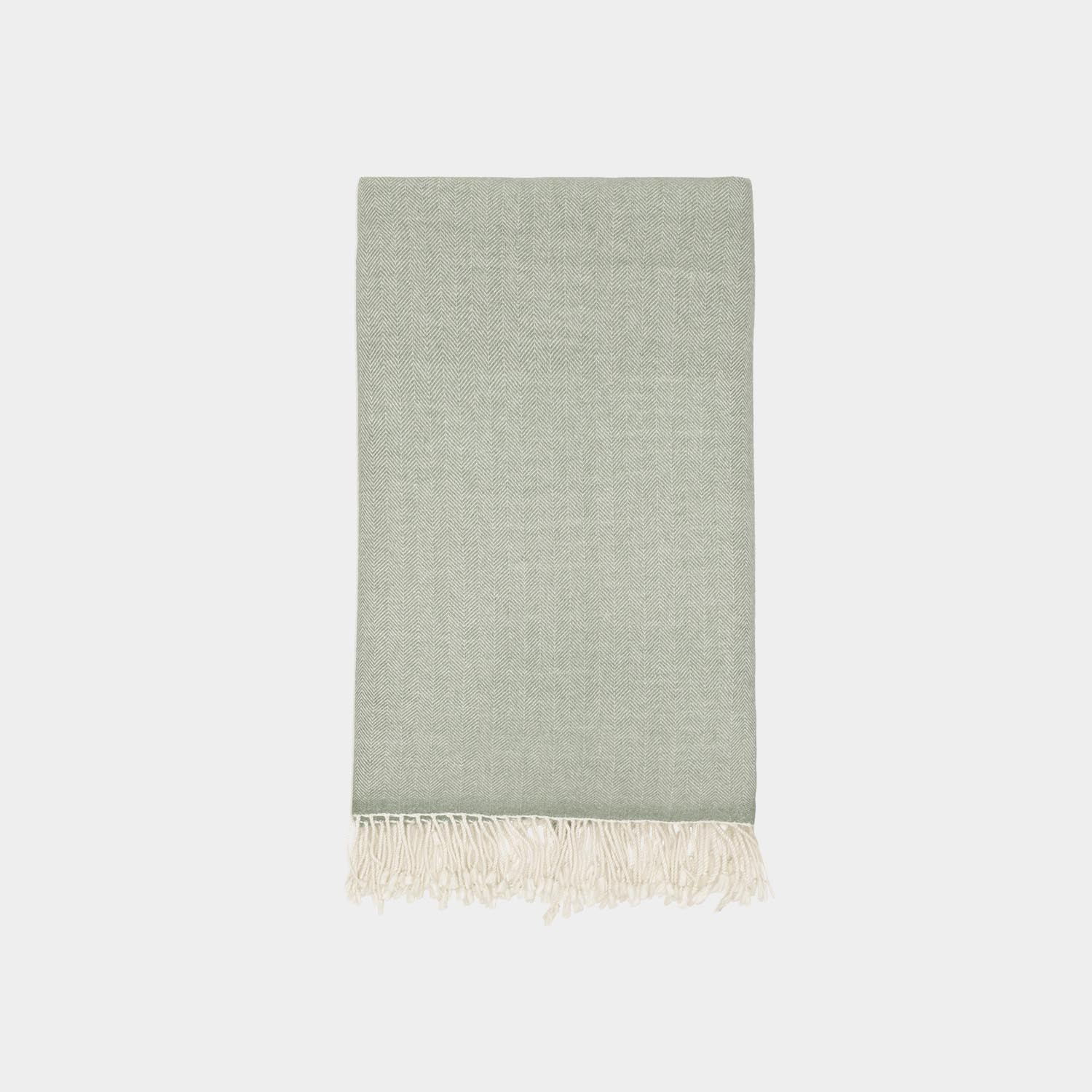 Herringbone Throw, Green
