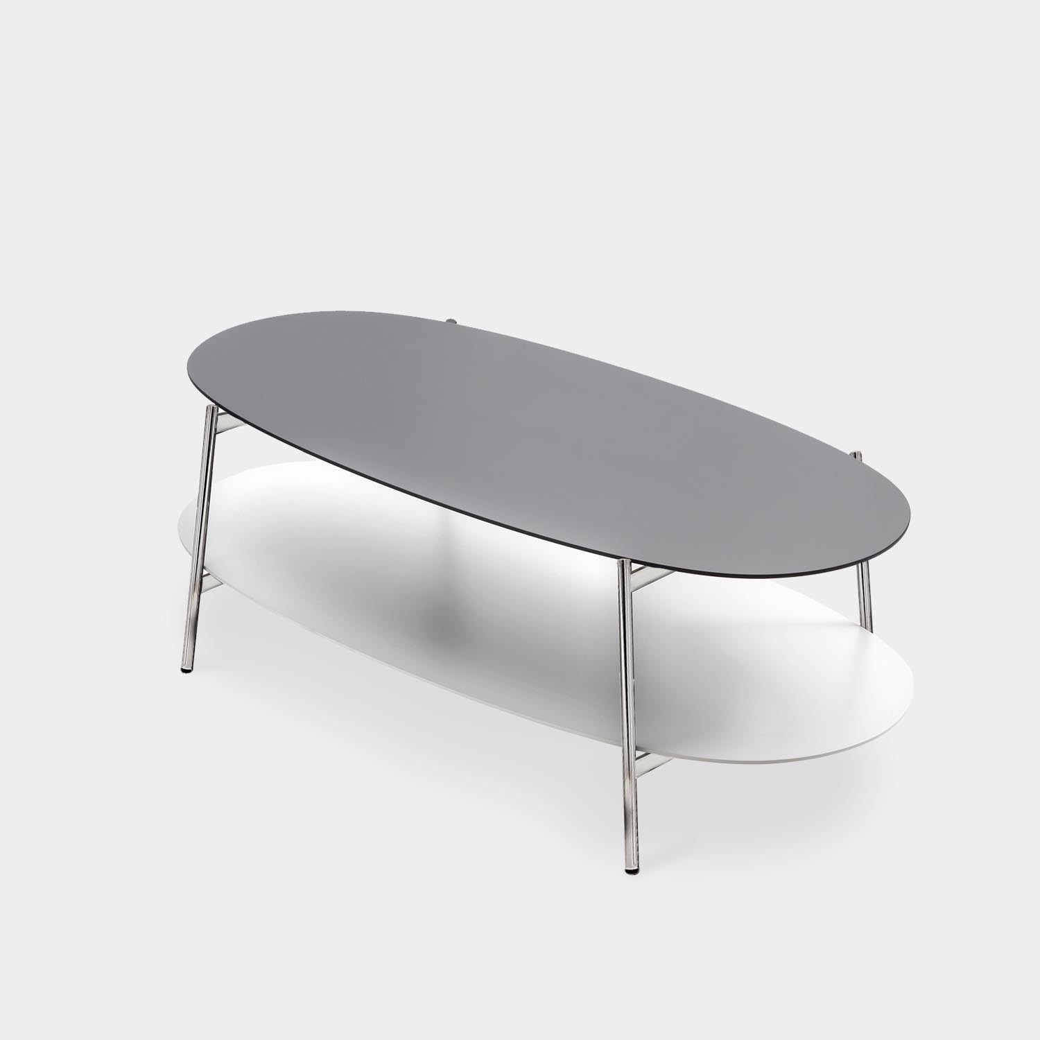 Coffee Table SHIKA, Chrome Base