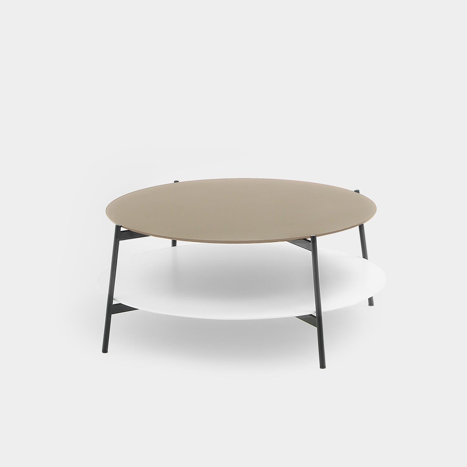 Round Coffee Table SHIKA, Black Base