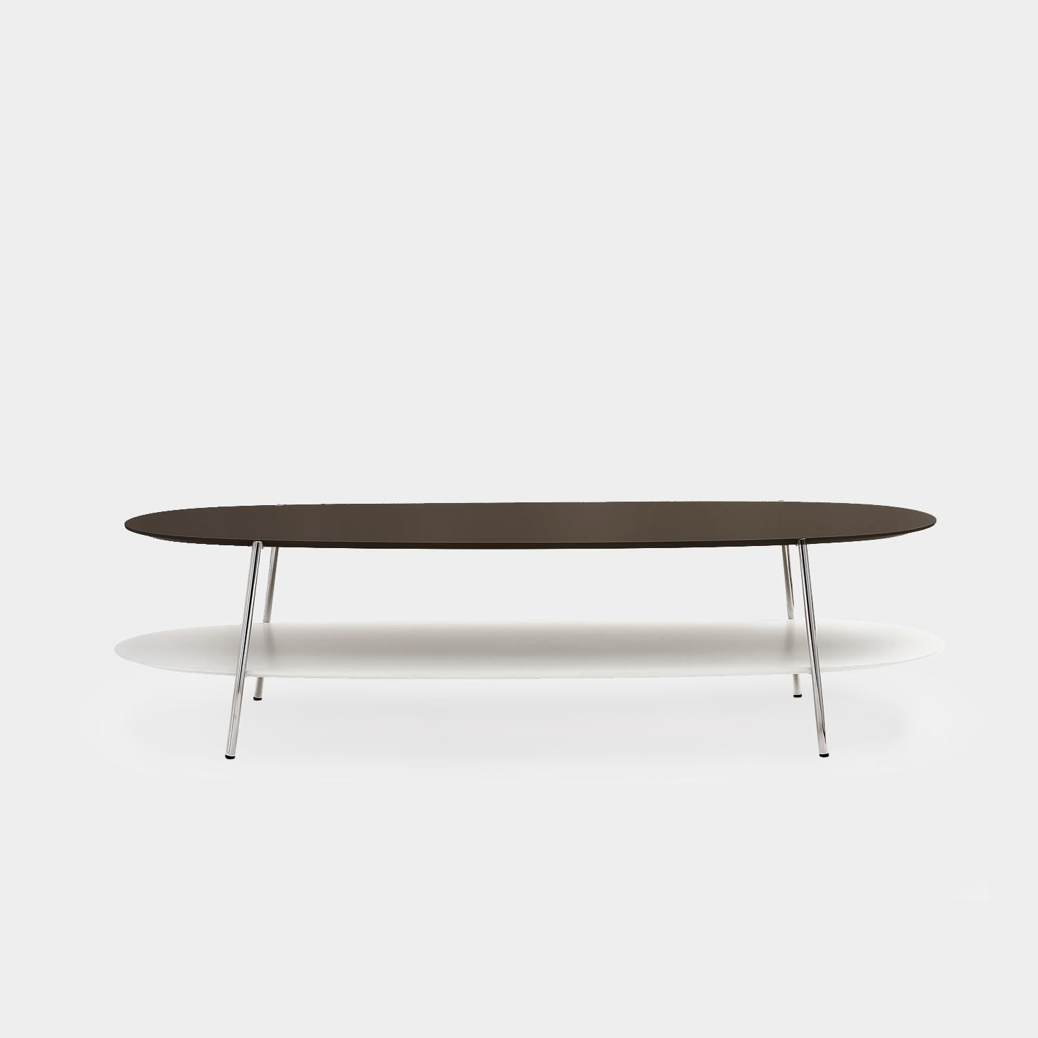 Large Coffee Table SHIKA, Chrome Base