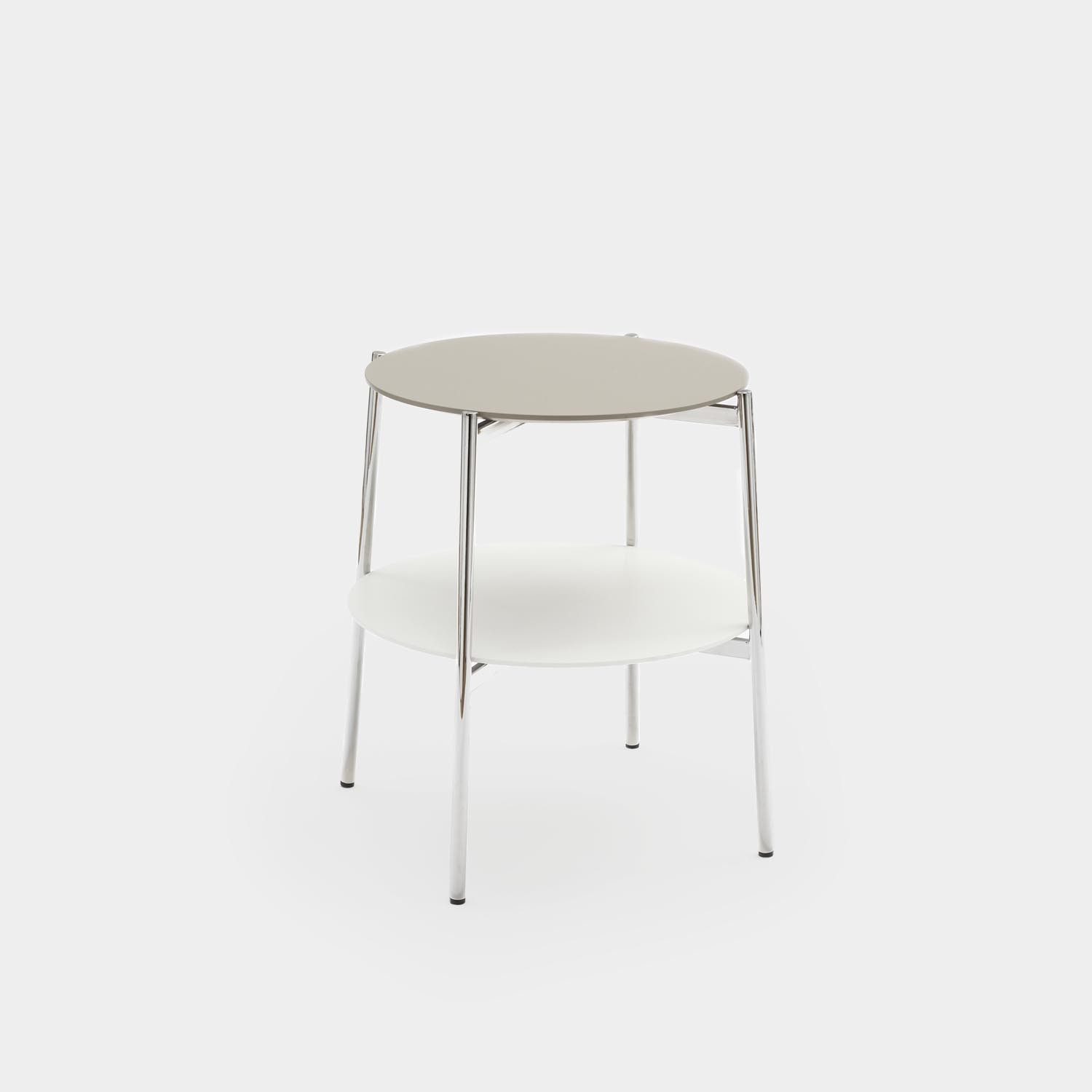 Side Table SHIKA, Chrome Structure