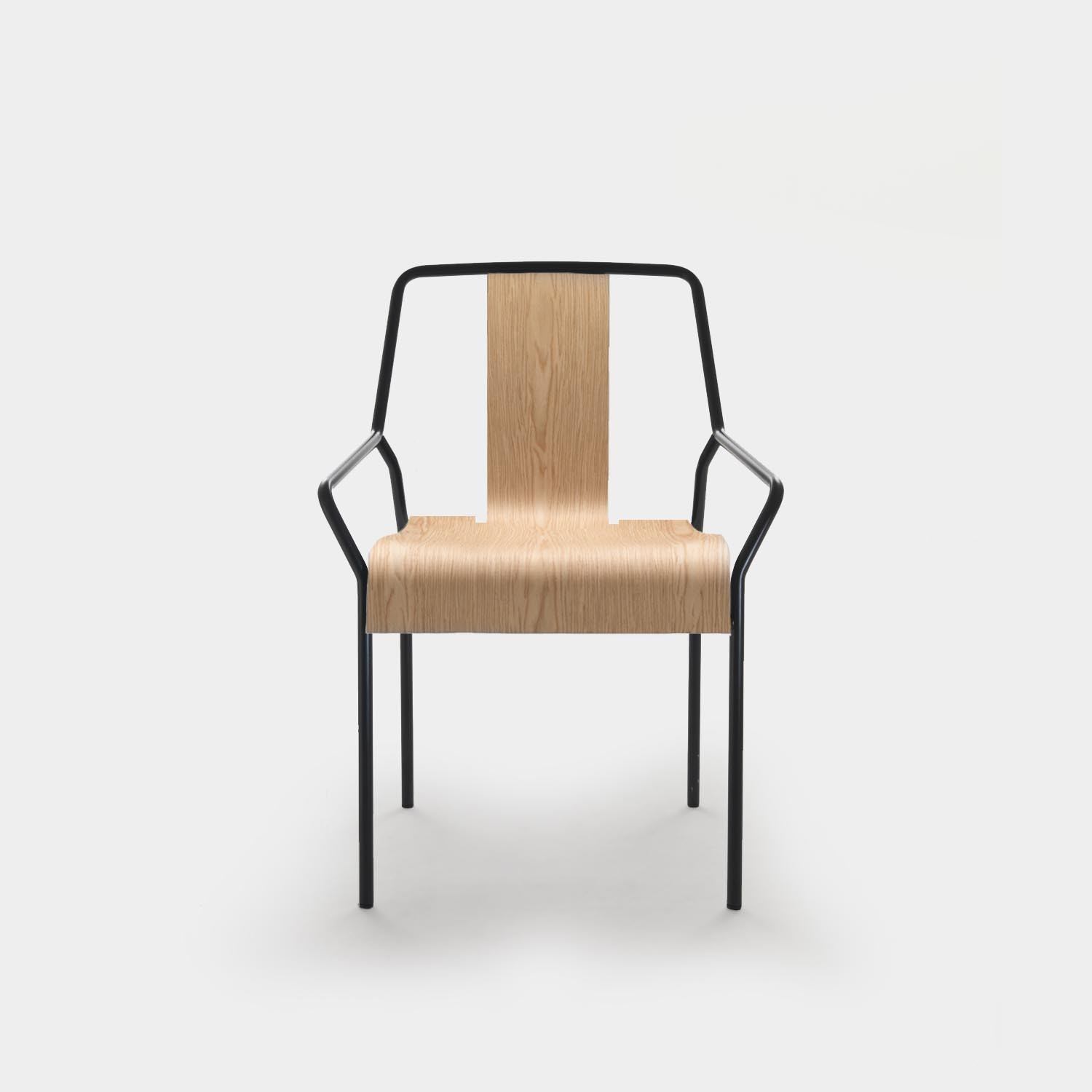 Chair DAO Black/Natural Oak
