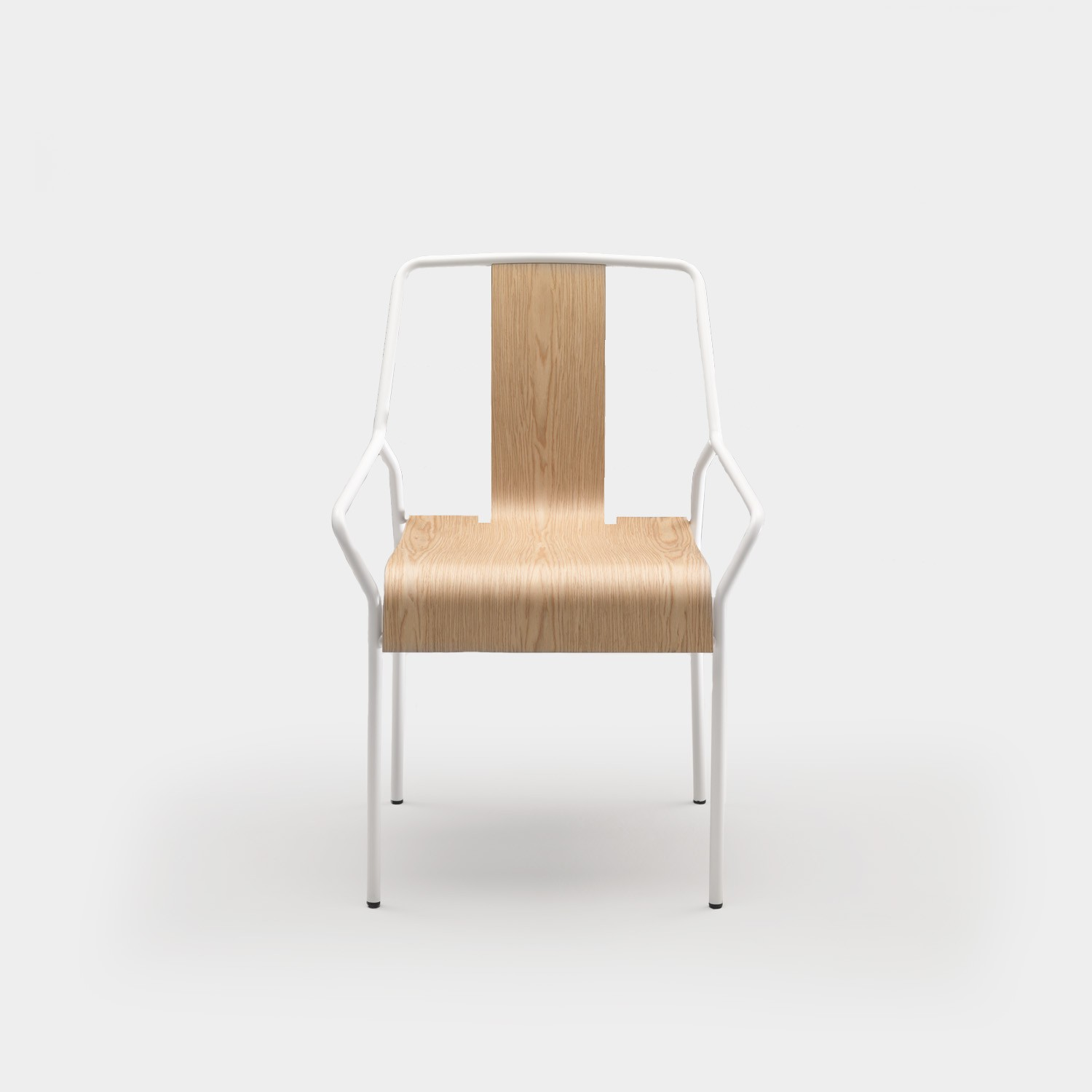 Chair DAO White/Natural Oak