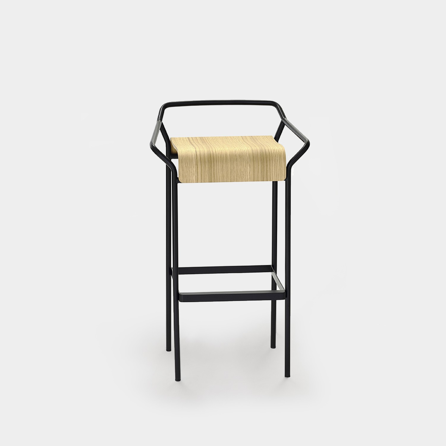 Bar Stool DAO Black/Natural Oak