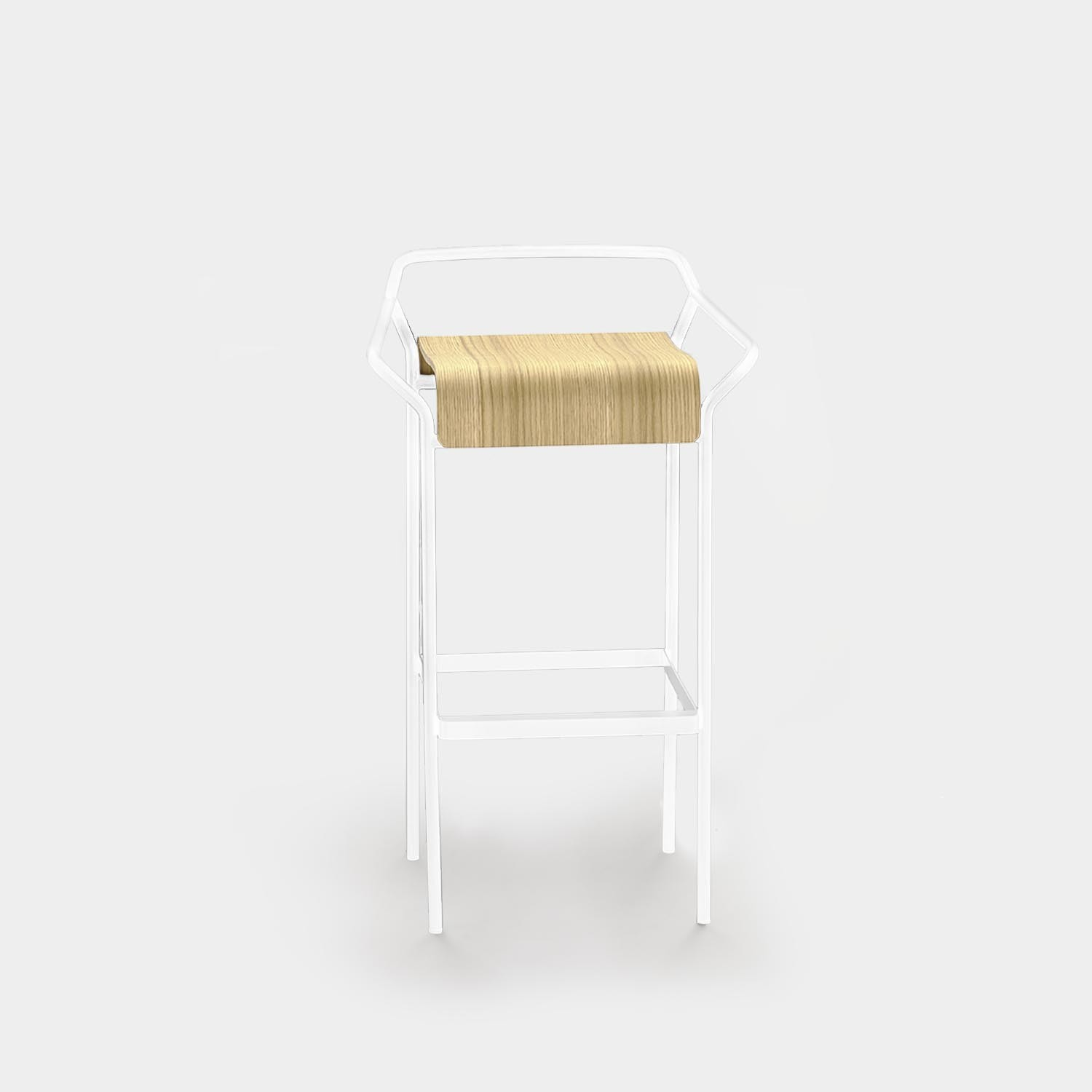 Bar Stool DAO White/Natural Oak