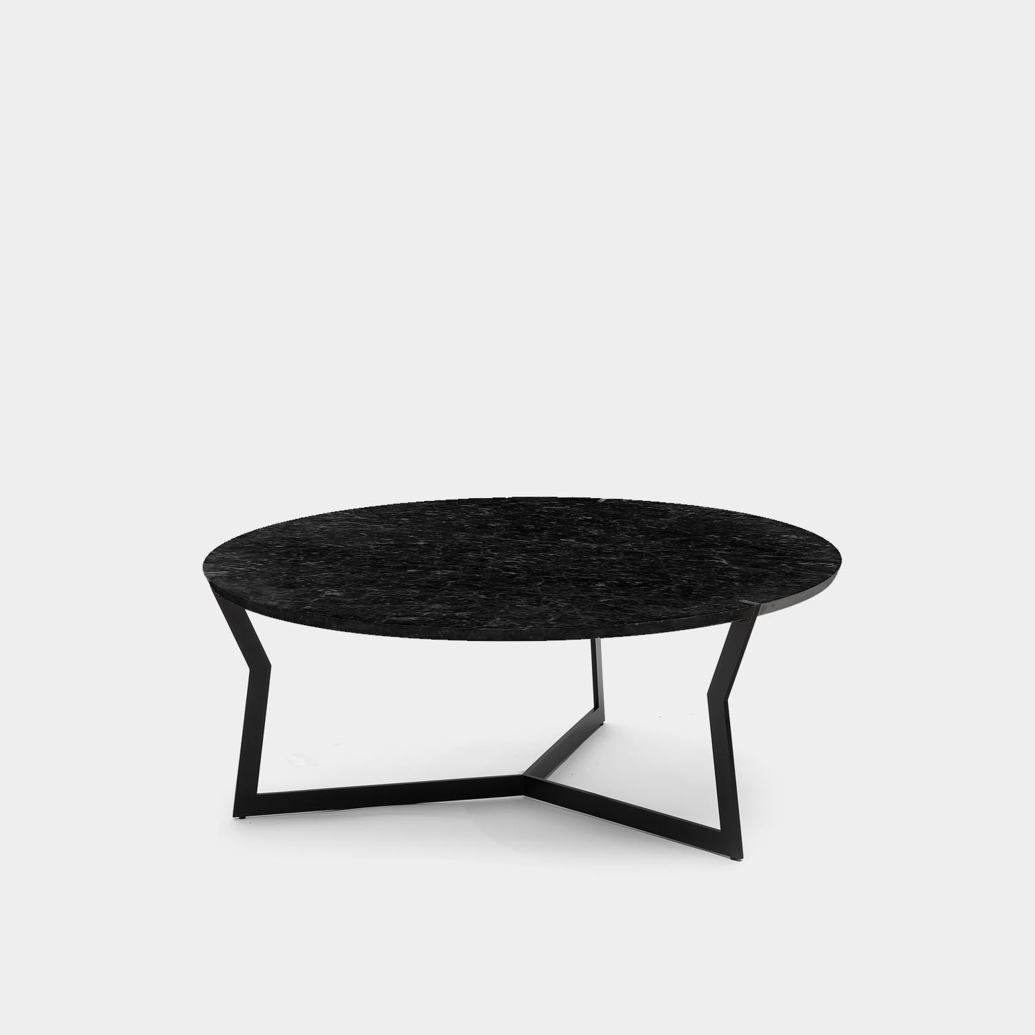 Round Coffee Table Star, Marquina Marble
