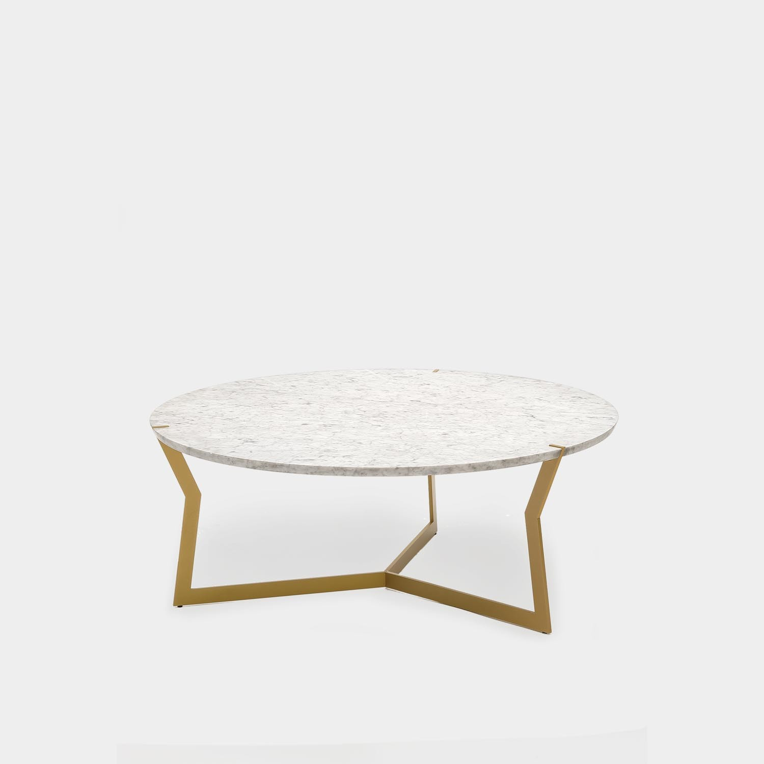 Round Coffee Table Star, Carrara Marble