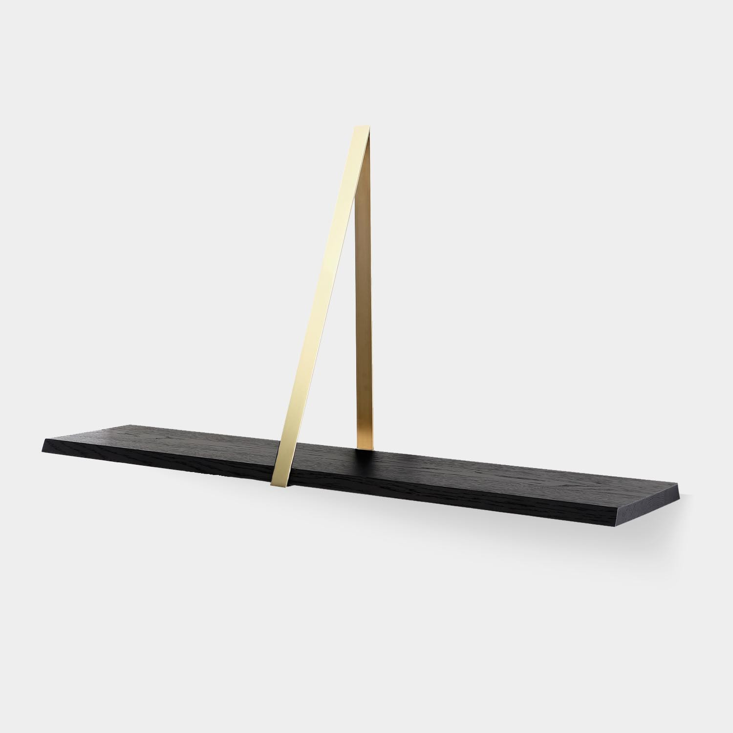 Wall Shelf T-SQUARE, Brass Frame