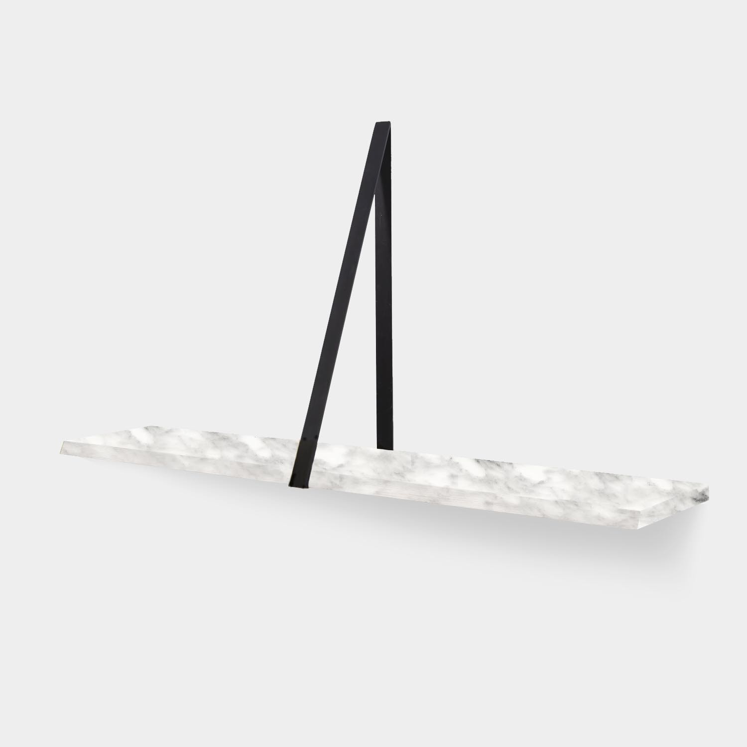 Wall Shelf T-SQUARE, Bronze/Arabescato Marble