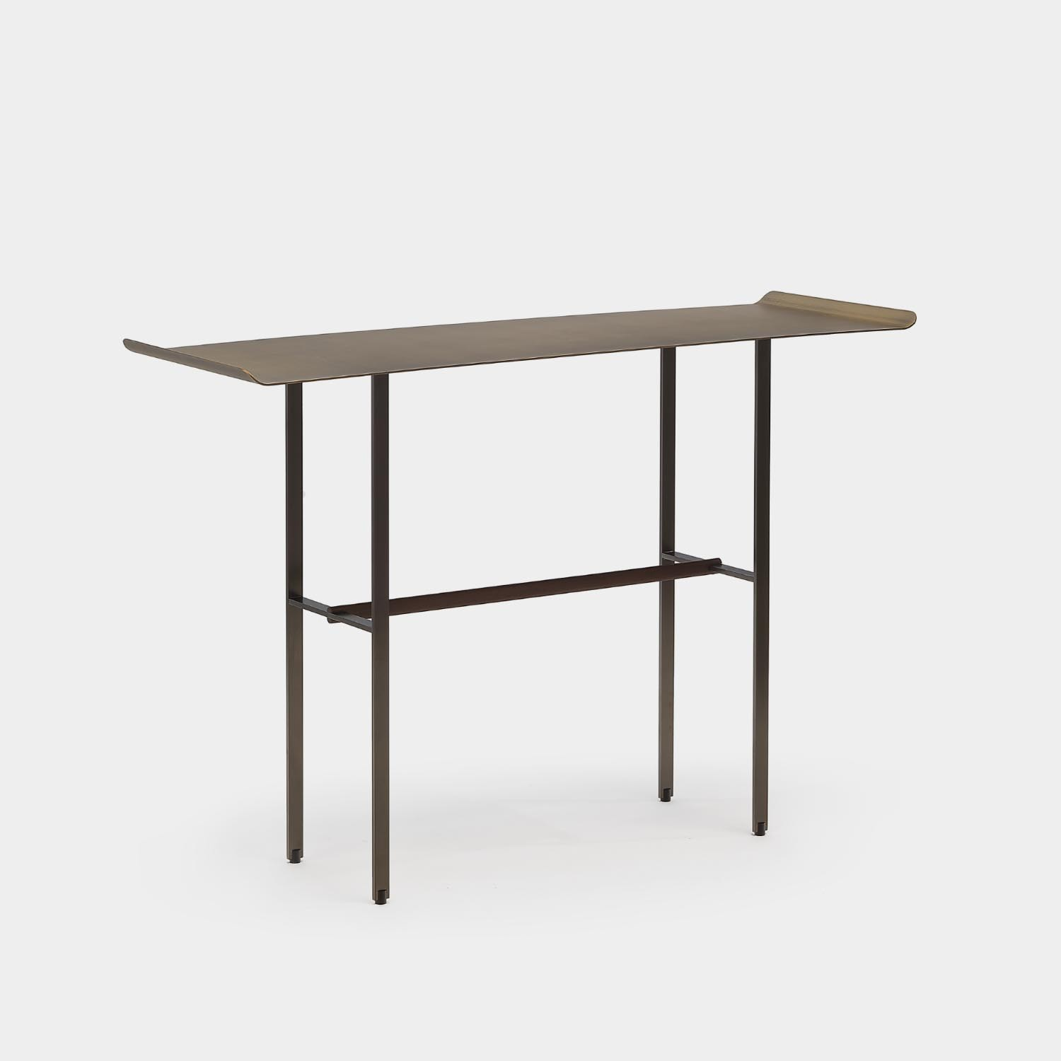 Sisters Console Table, Metallic Top