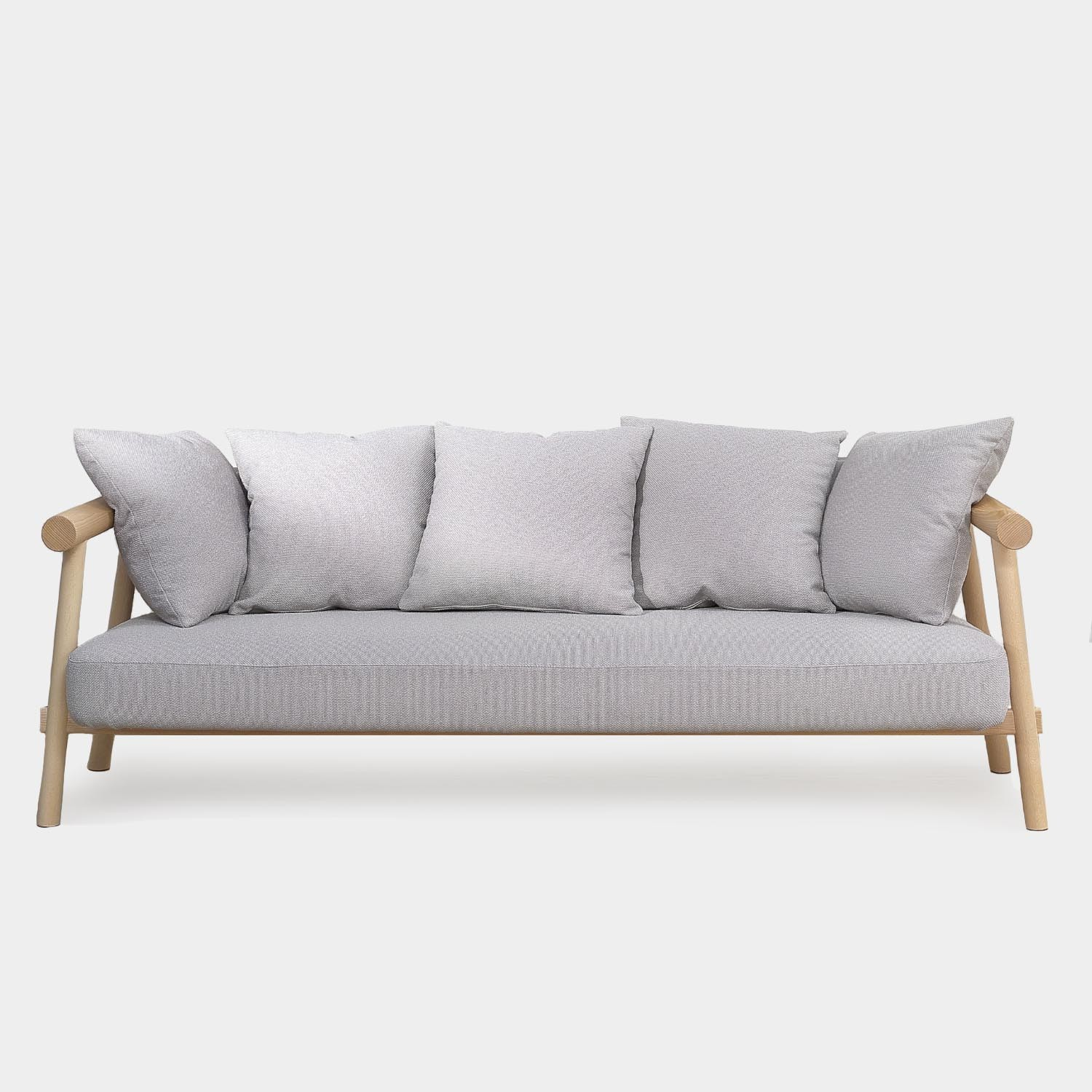 Altay Sofa, Natural Beechwood, Beige Textile Upholstery