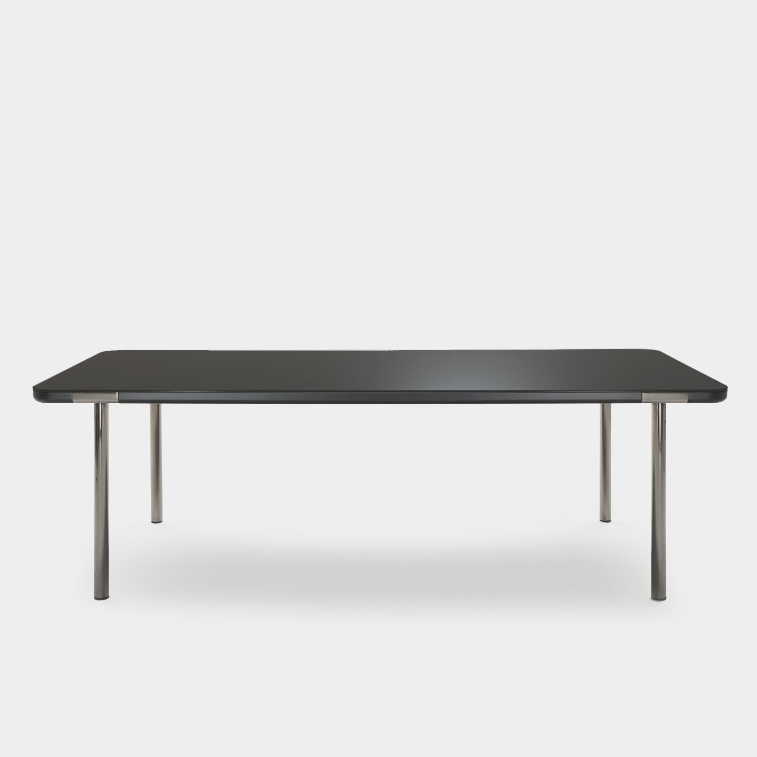 Dining Table Pont Neuf, Black Glass Top
