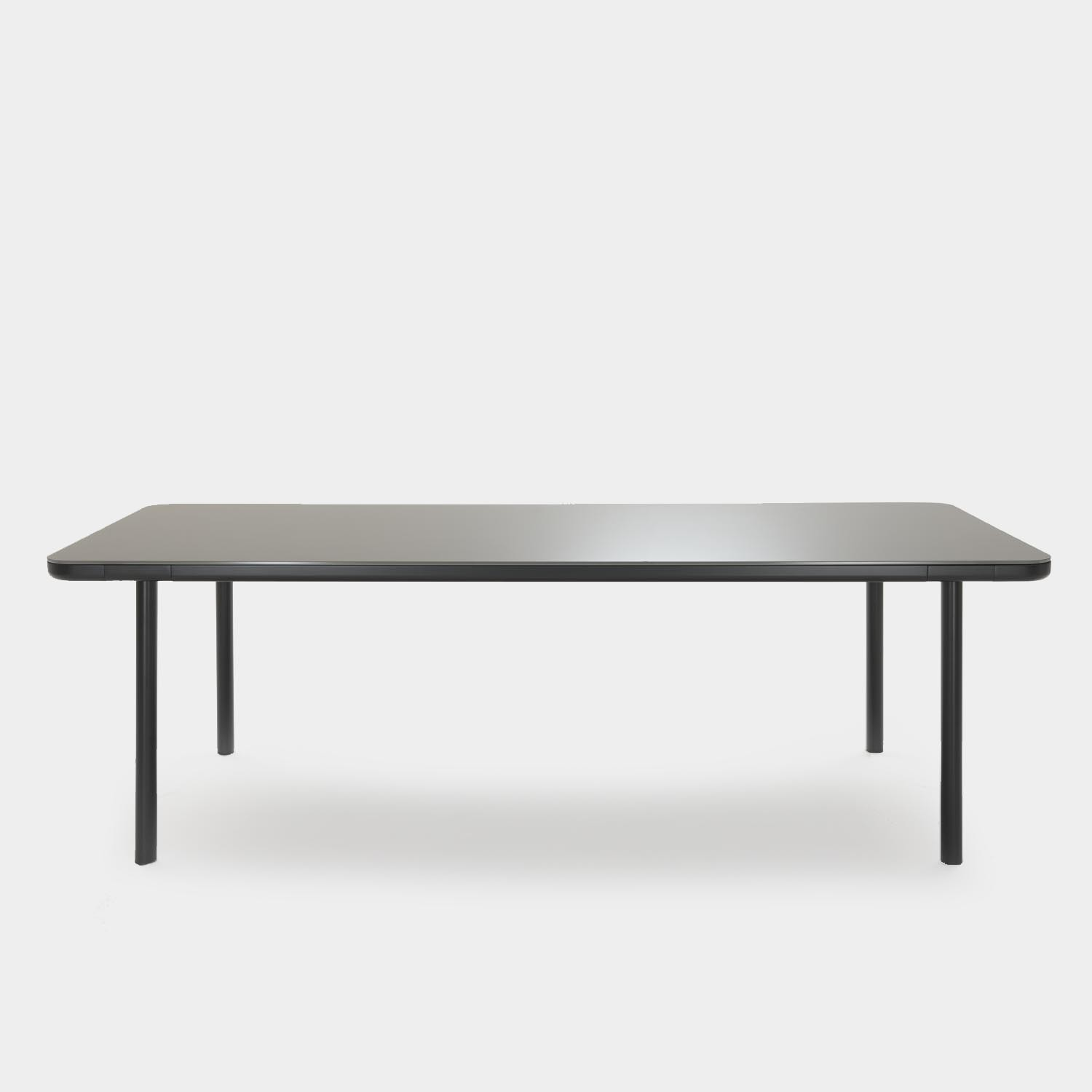 Dining Table Pont Neuf, Smoked Glass Top