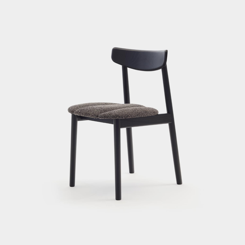 Klee Chair, Black, Brown/Black Upholstered Seat