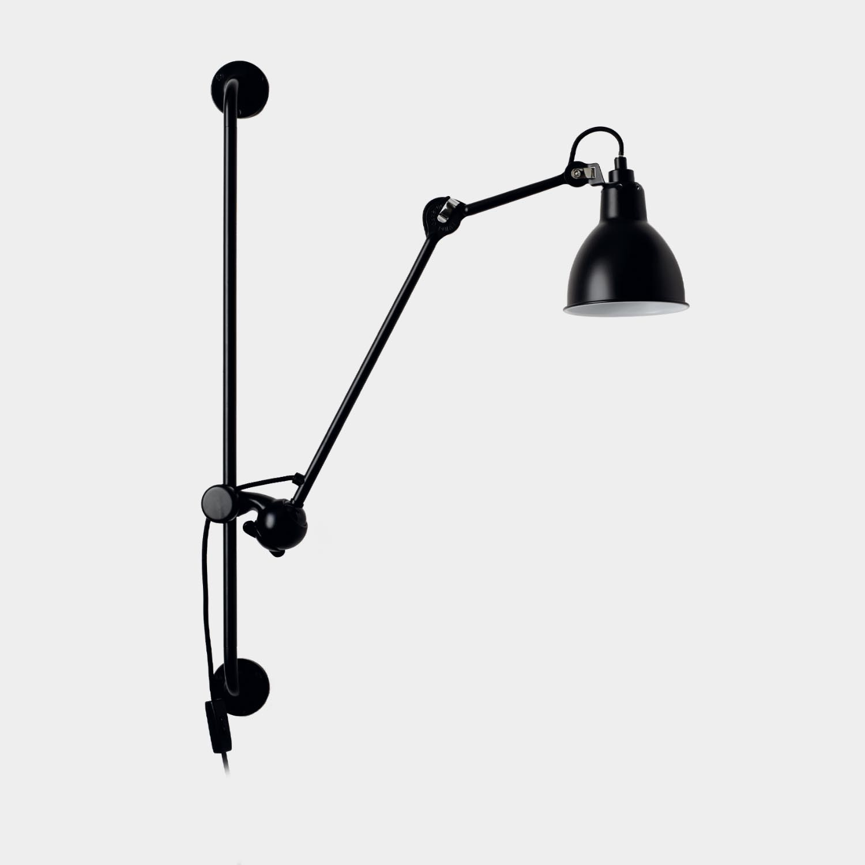 Swinging Arm Wall Lamp Gras 210, Black