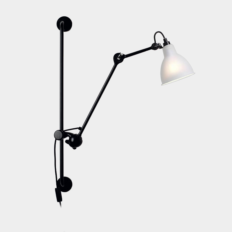 Swinging Arm Wall Lamp Gras 210, Opal White