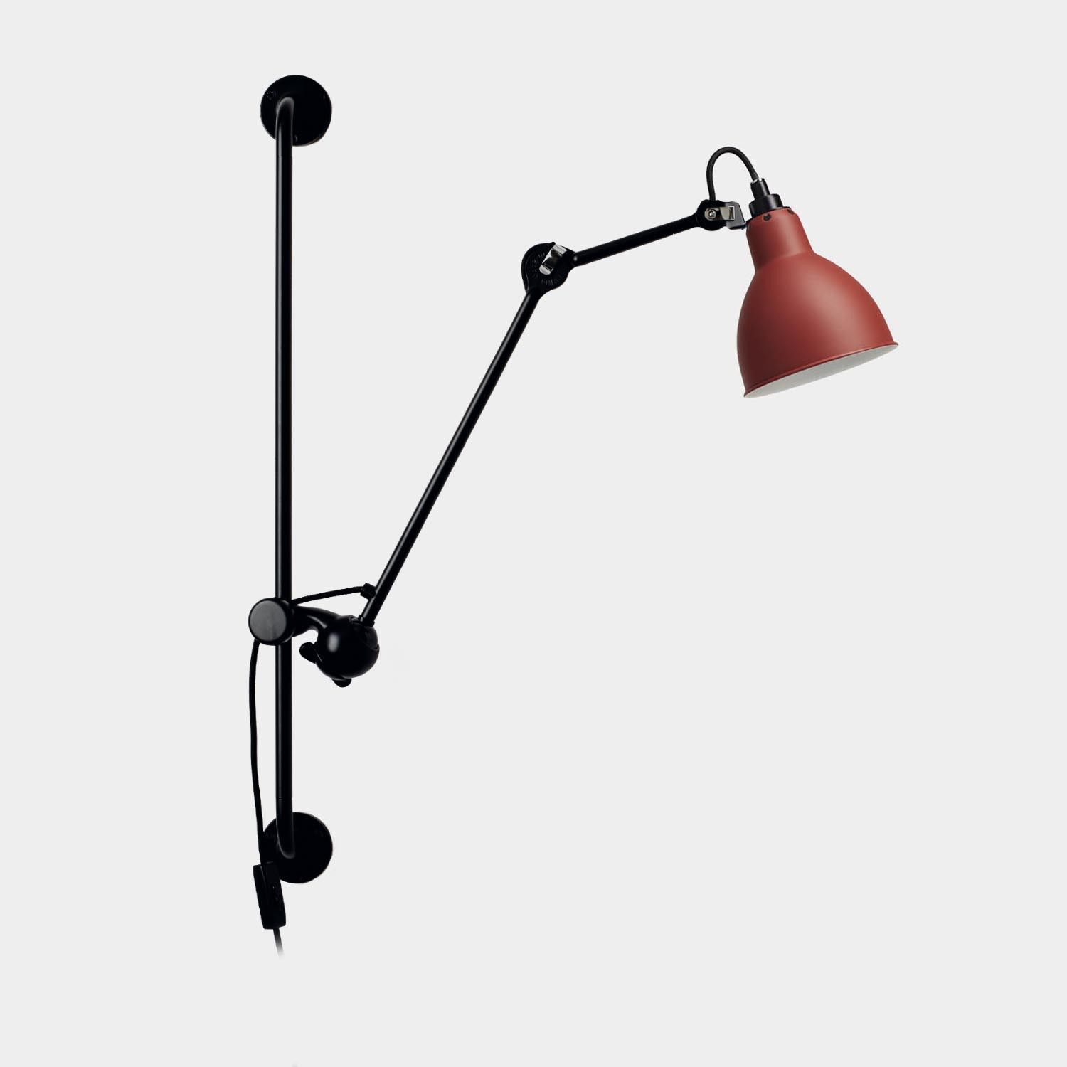 Swinging Arm Wall Lamp Gras 210, Red
