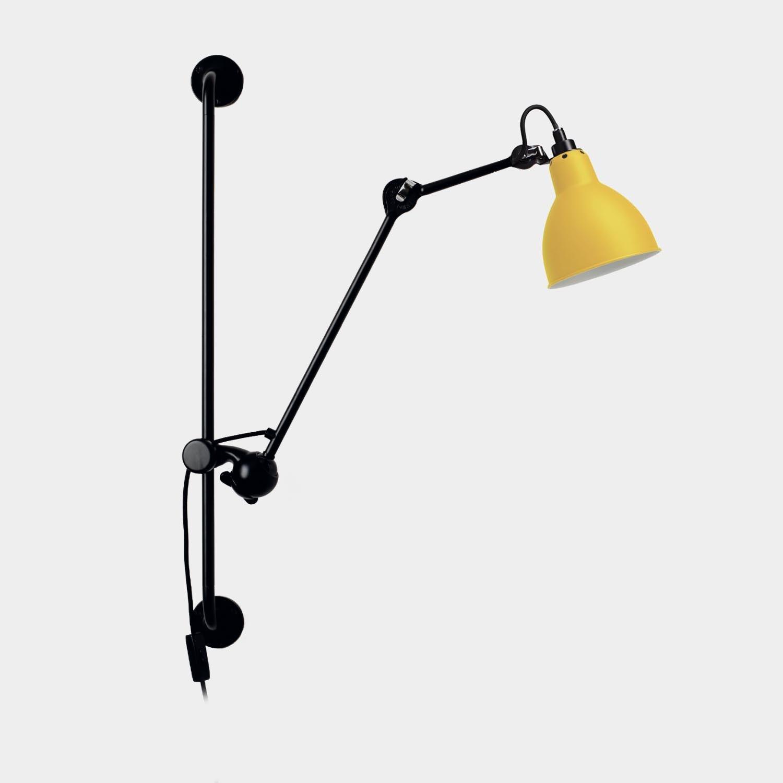 Swinging Arm Wall Lamp Gras 210, Yellow
