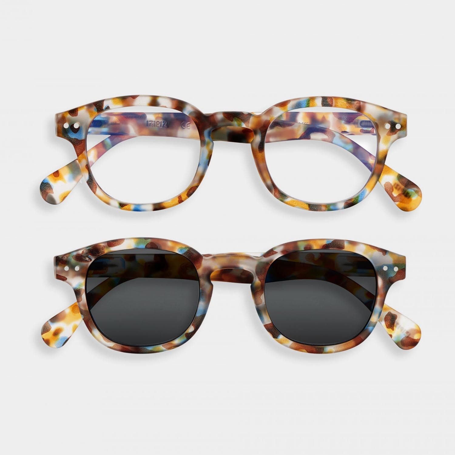 SCREEN and SUN Glasses Duo #C, Blue Tortoise