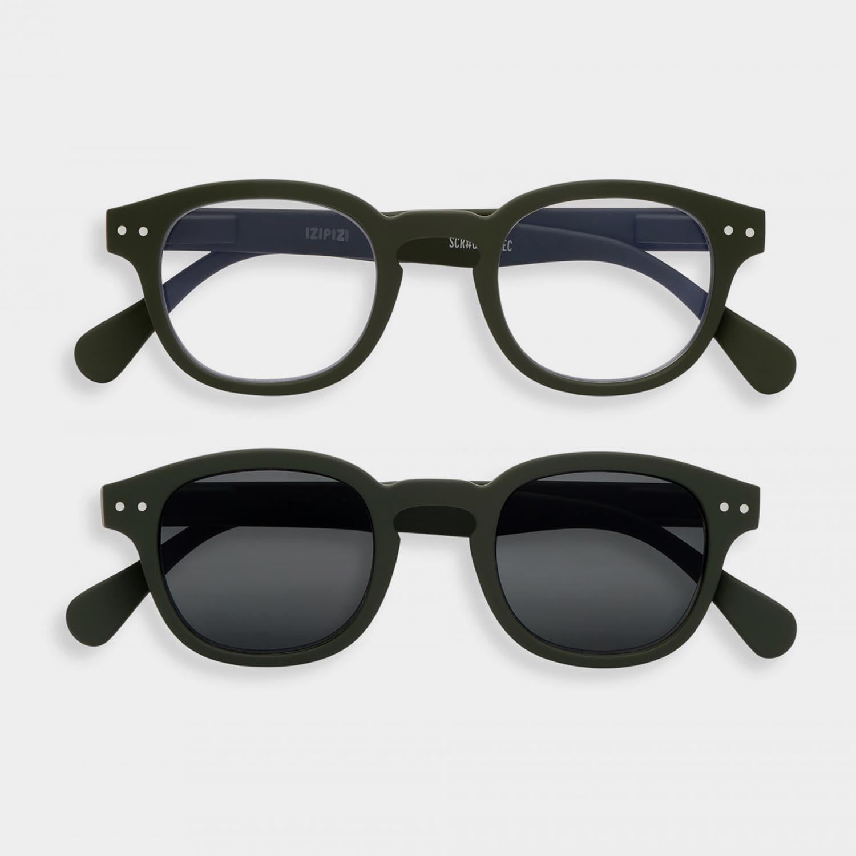 SCREEN and SUN Glasses Duo #C, Khaki