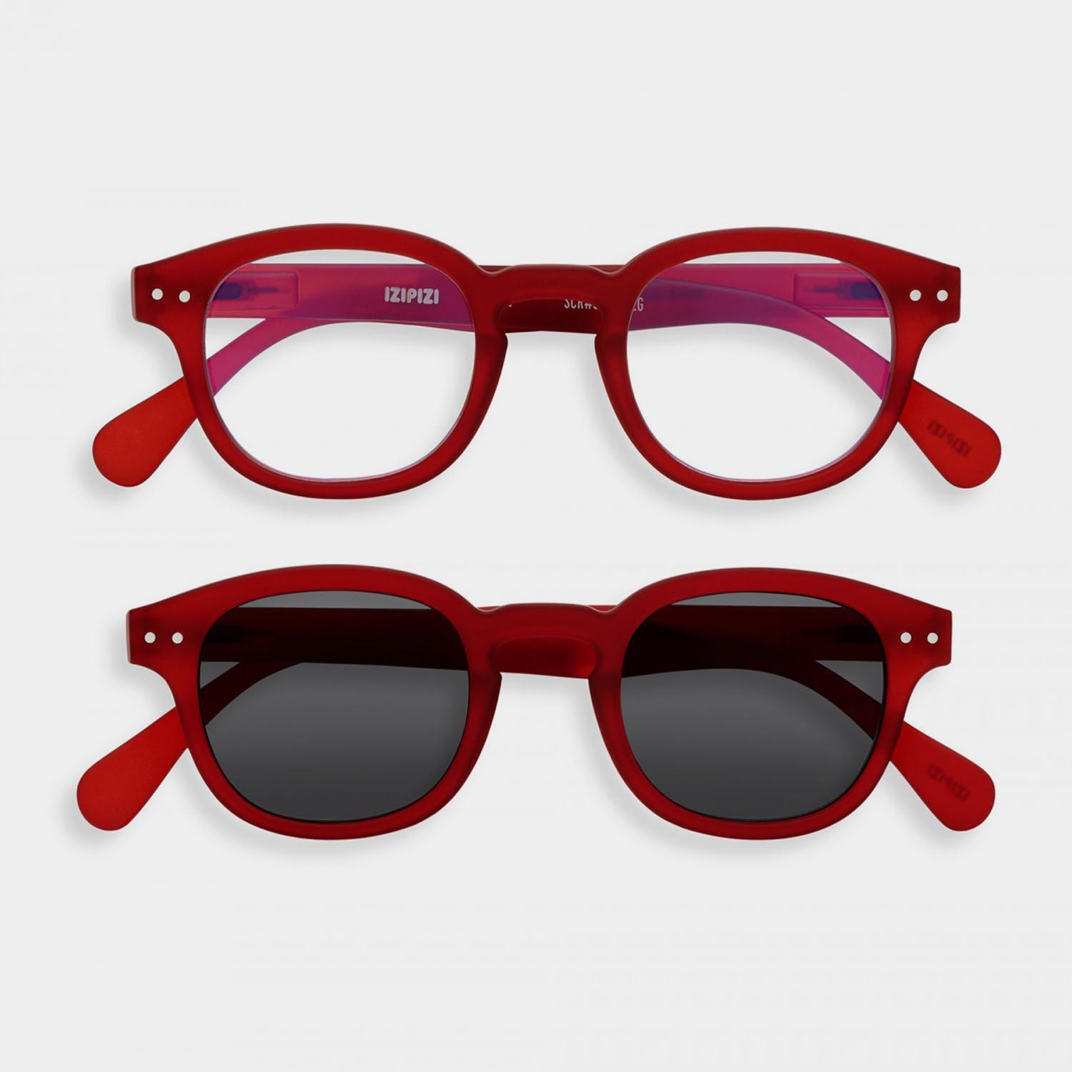 SCREEN and SUN Glasses Duo #C, Red