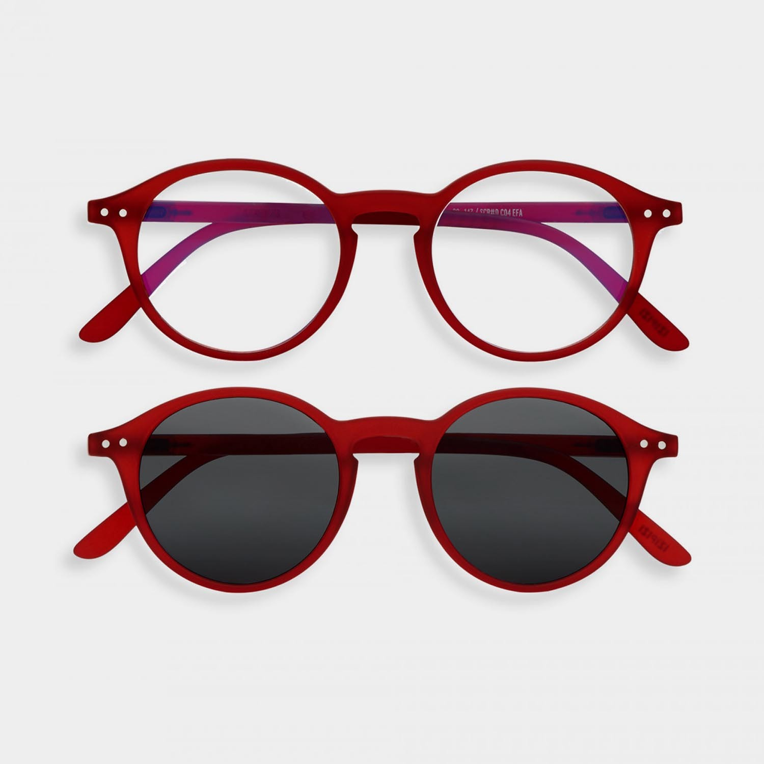 SCREEN and SUN Glasses Duo #D, Red