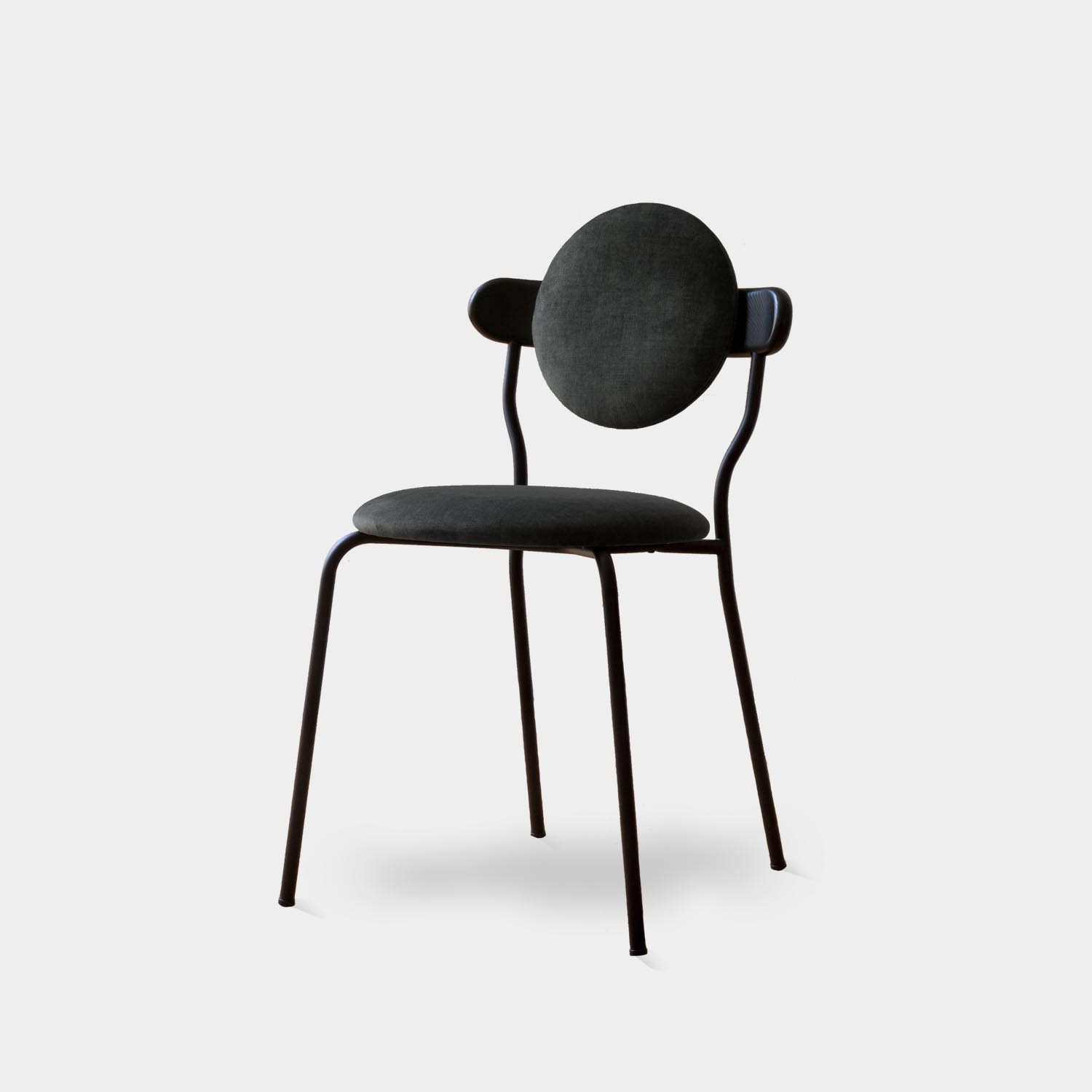Planet Chair, Black Velvet Smart Upholstery