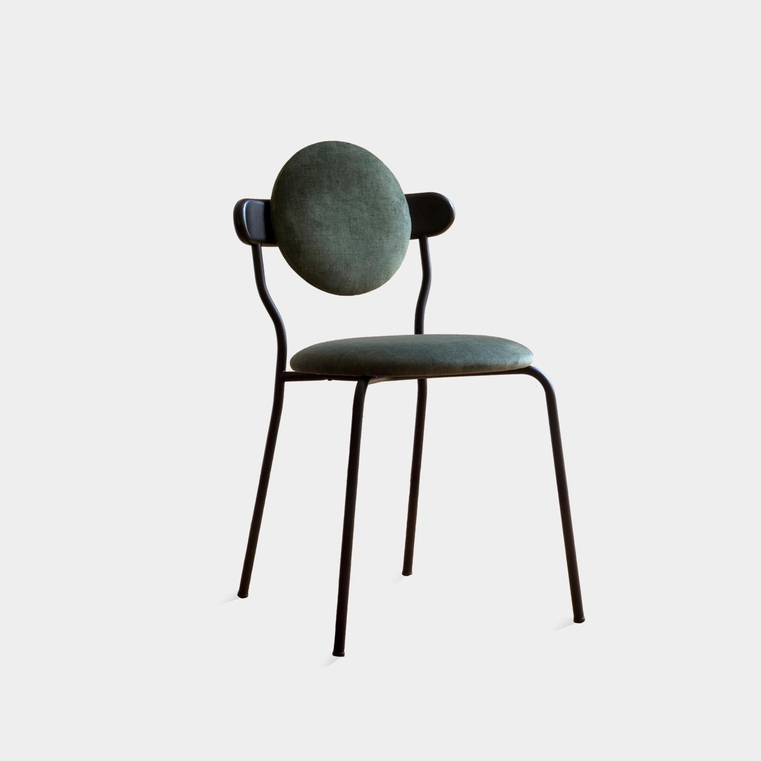 Planet Chair, Green Velvet Smart Upholstery