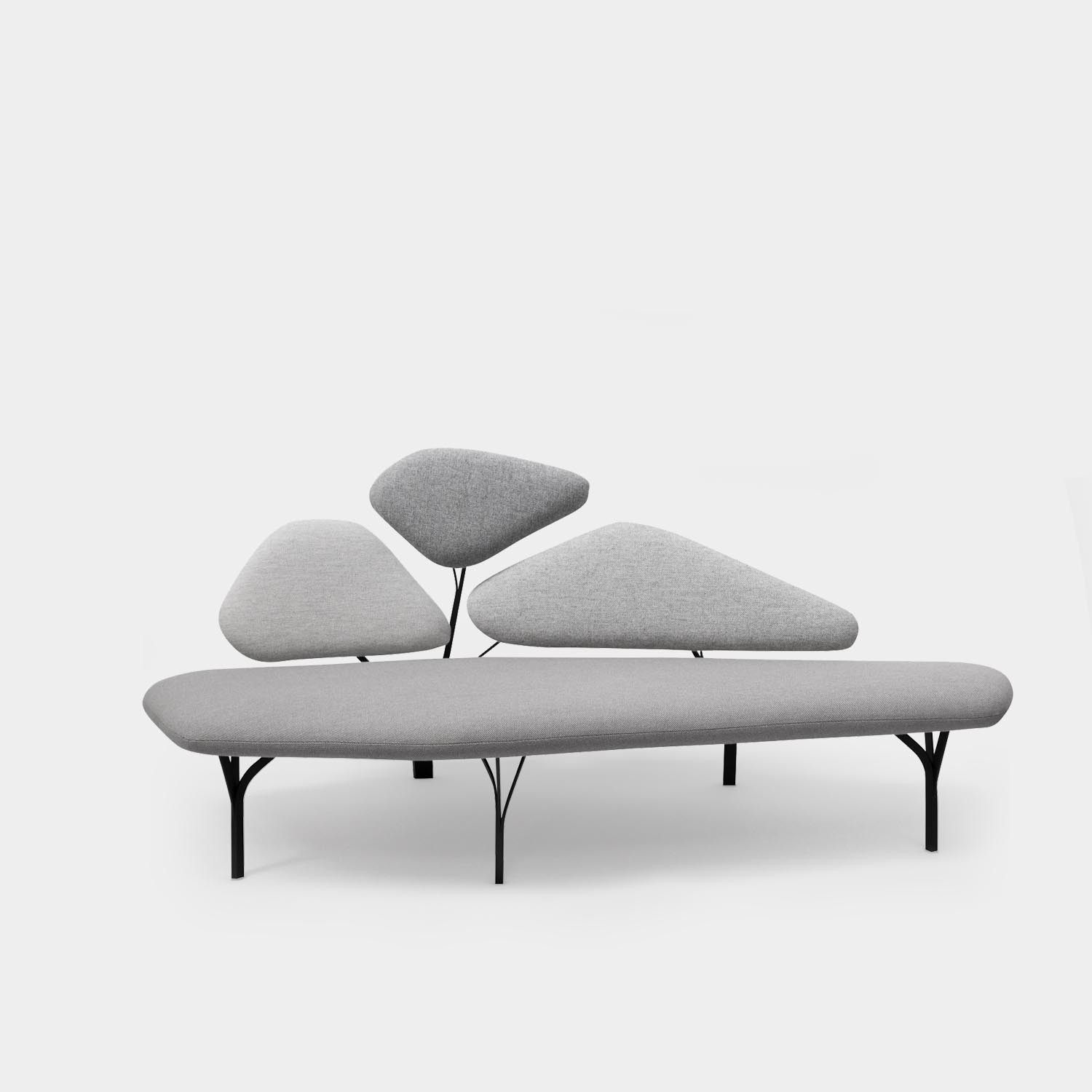 Borghese Sofa, Two-Seater, Stone Gray