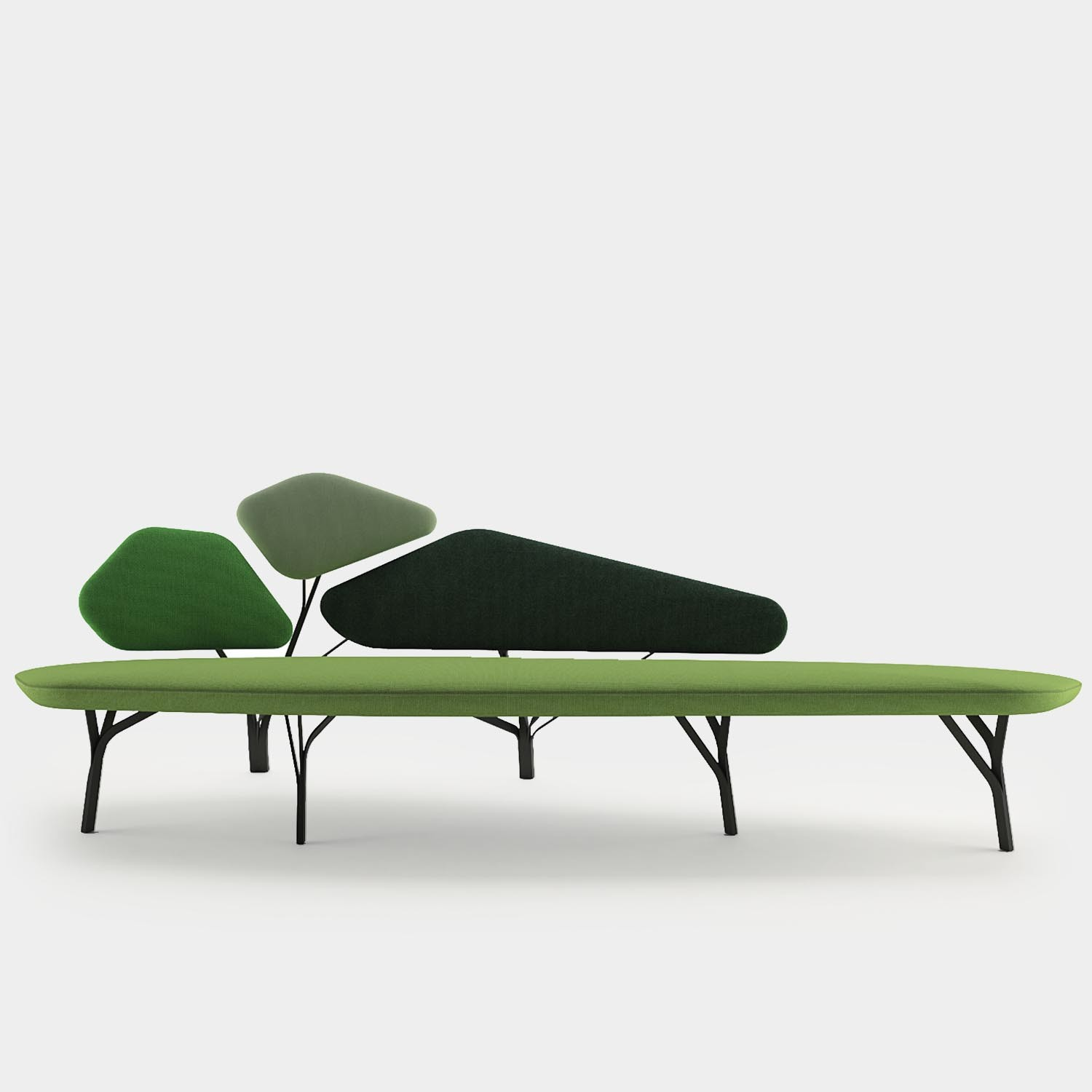 Borghese Sofa, Three Seater, Green