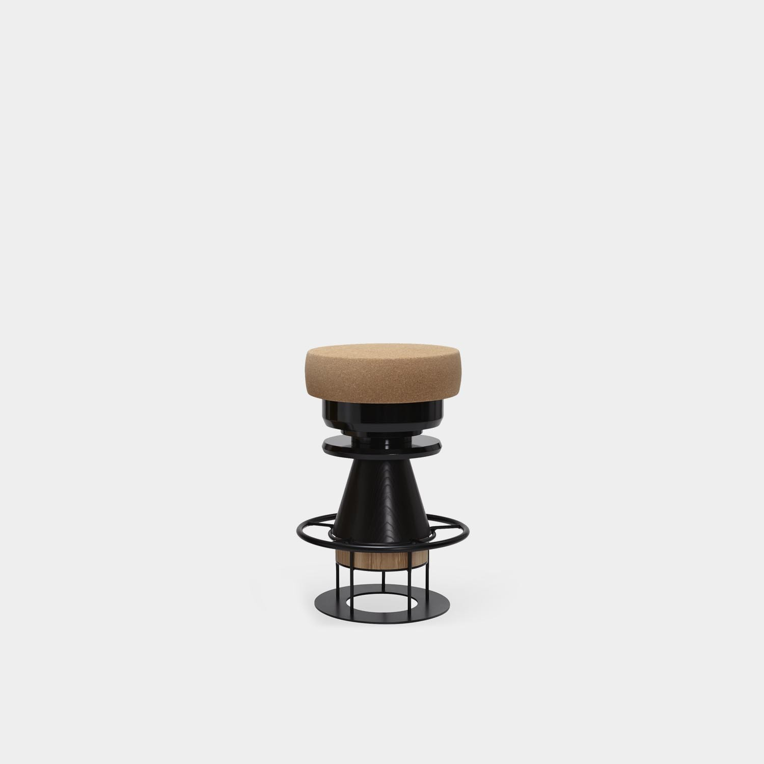 Tembo Barstool, Medium, Black