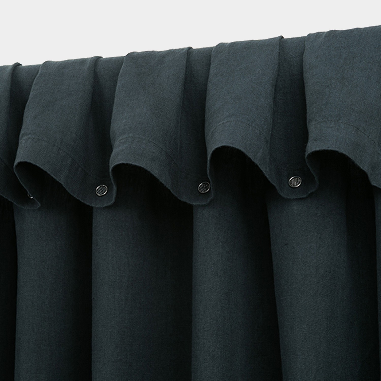 Washed Linen Curtain Anthracite