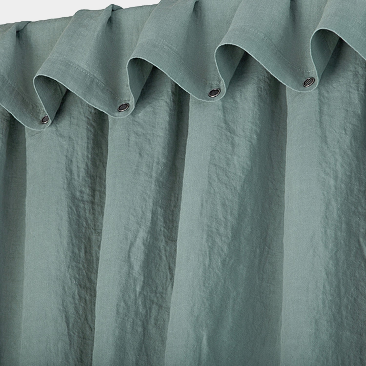 Washed Linen Curtain Celadon