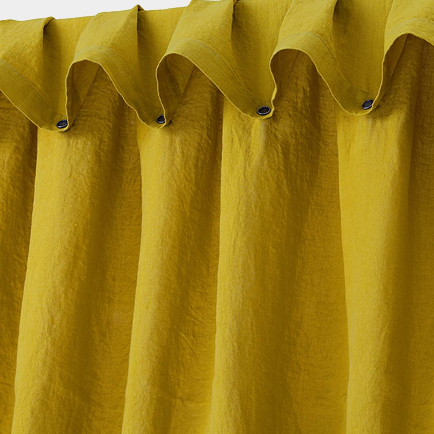 Washed Linen Curtain Corn Yellow