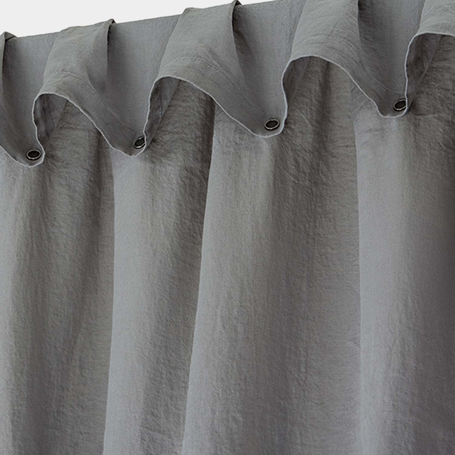 Washed Linen Curtain Gray
