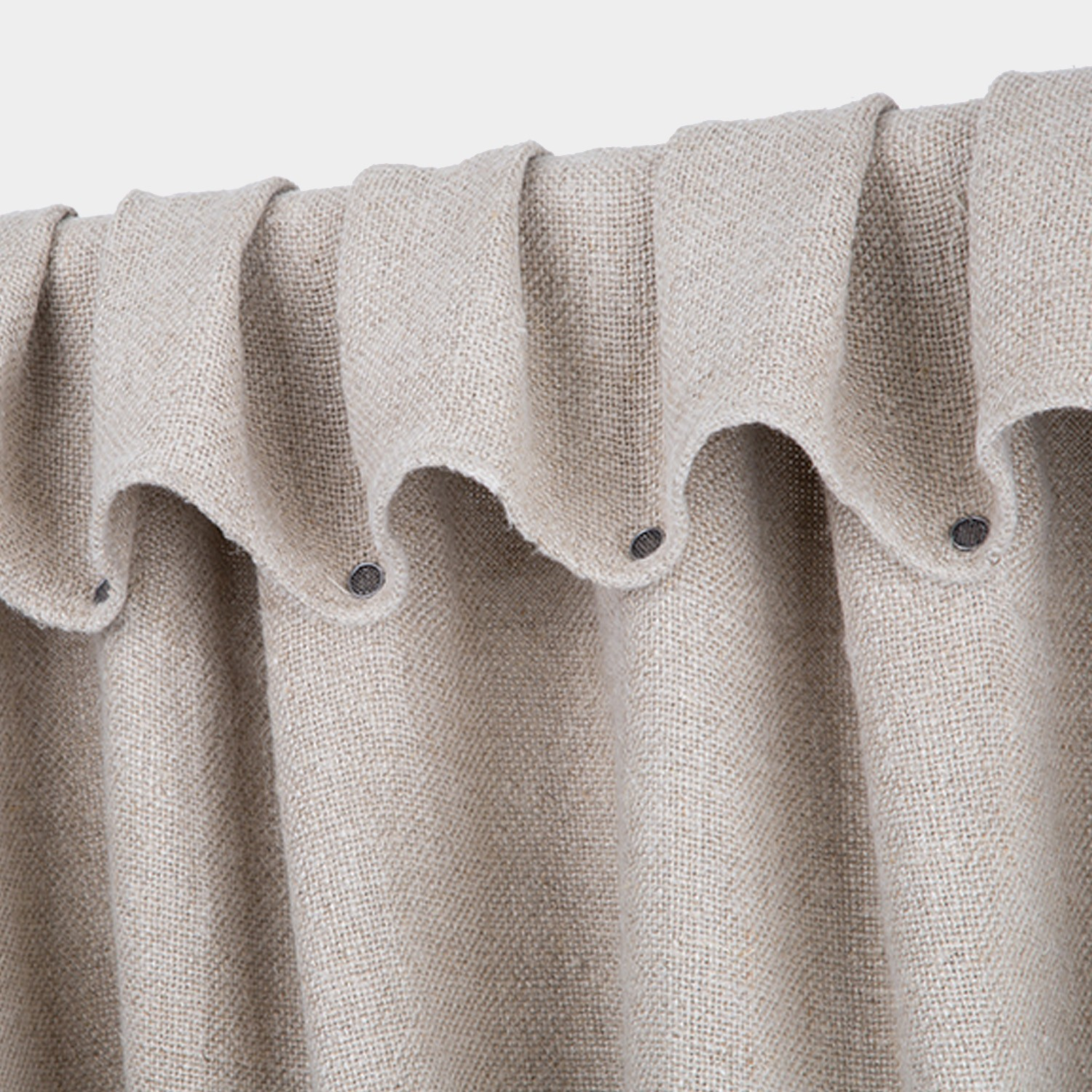 Thick weave Linen Curtain Natural