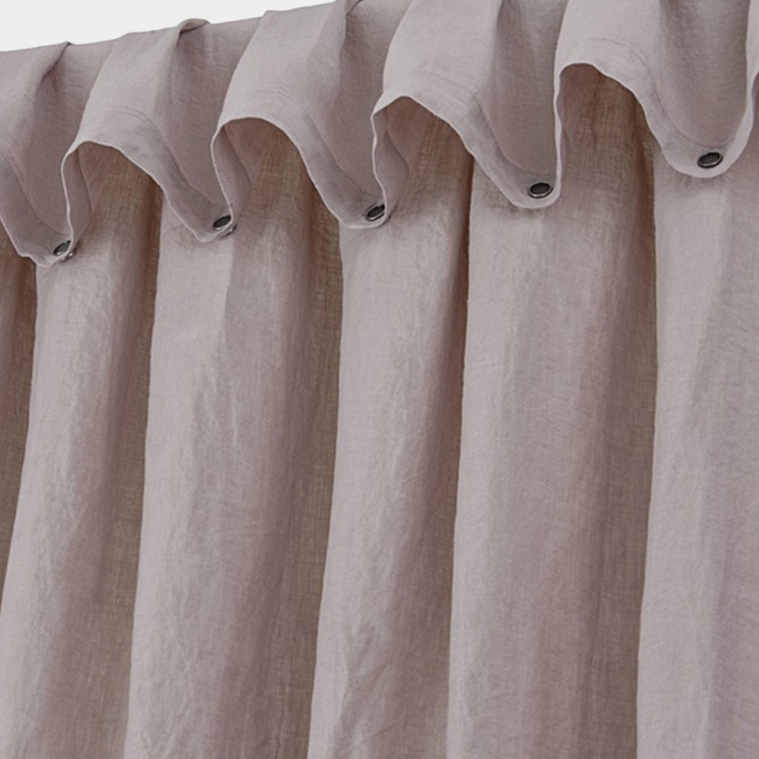 Washed Linen Curtain Calamine